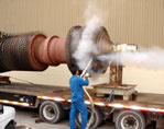 Dry ice blasting for cleaning electric motors generators for Motor winding cleaning solvent