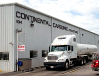 Continental Carbonic, manufacturer or dry ice, is located at 194 Blair Bend Dr. Loudon, TN 37774.