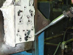 Clean built up residue from release agents and other molding byproducts from product molds with dry ice blasting