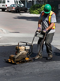Using Dry Ice to Speed Asphalt Drying