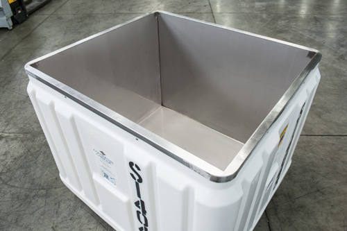 stainless steel lined dry ice container