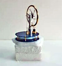 stirling engine  on dry ice